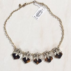 J. Crew Tortoise Shell Statement Necklace